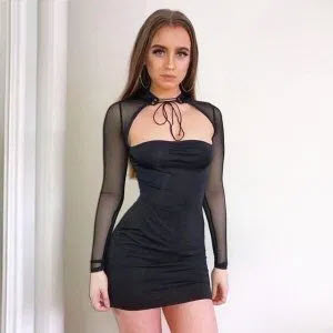 Long sleeve see-through Dress