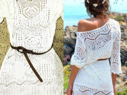 Sexy Lace Crochet See-through Dress