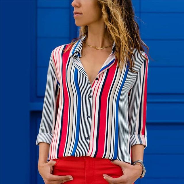 Women Long Sleeve Fashion Blouse