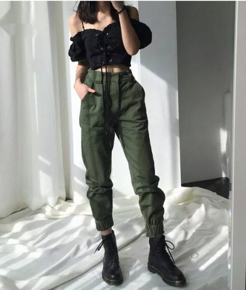 Army Harem Camo Pants
