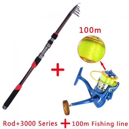 Rotating Carbon Fishing Rod and Casting Drum Bait Kit