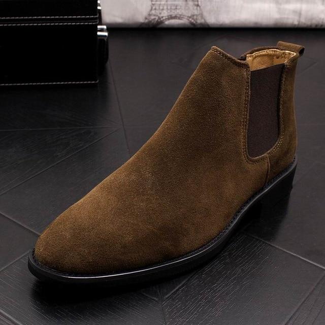 Men's Leather Chelsea Boots