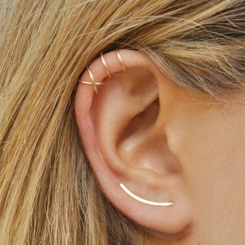Fancy Crossed Ear Cuff