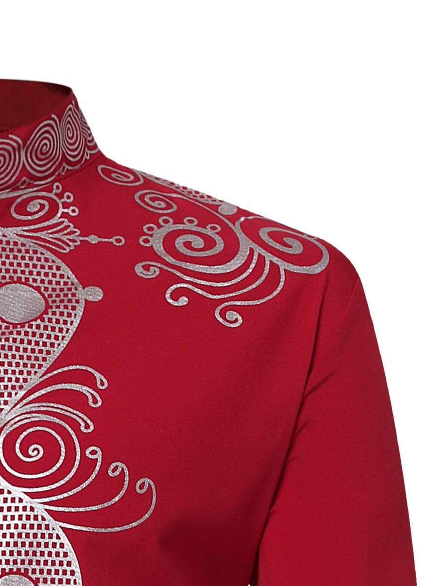 Men's Embroidery Dashiki Long Sleeve Shirt