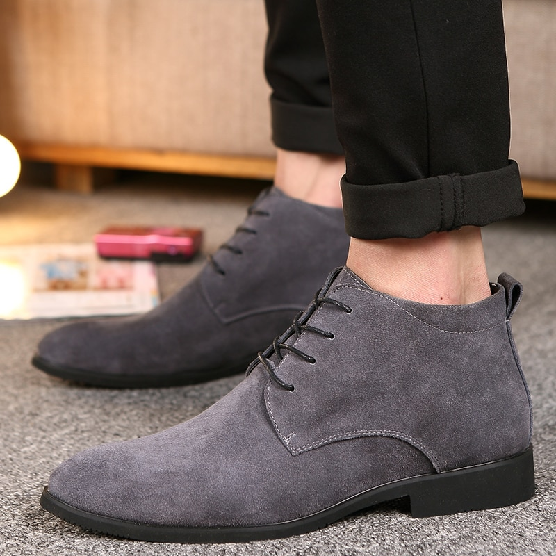High-Quality Cow Suede Chelsea Boots
