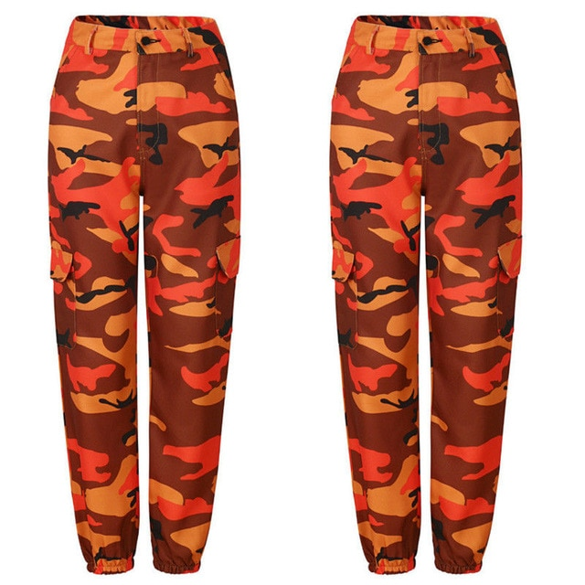 Camo Cargo High Waist Hip Hop Pants