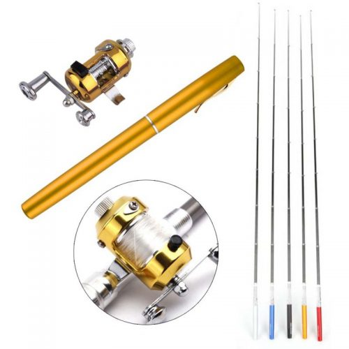 Pocket Telescopic Mini Fishing Pole With Reel Wheel