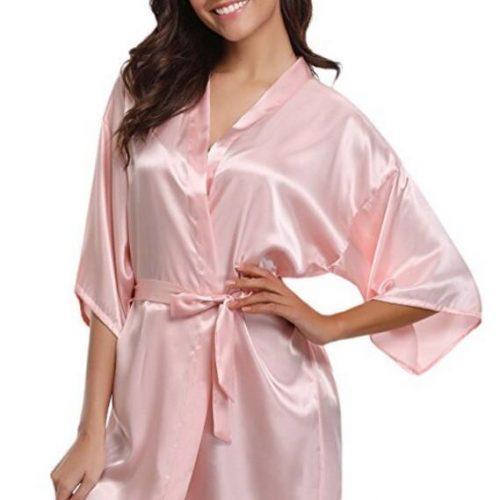 New Sexy Silk Kimono Robe