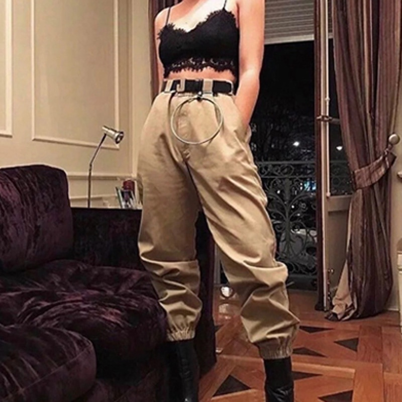 Fashionable Woman Camo Pants