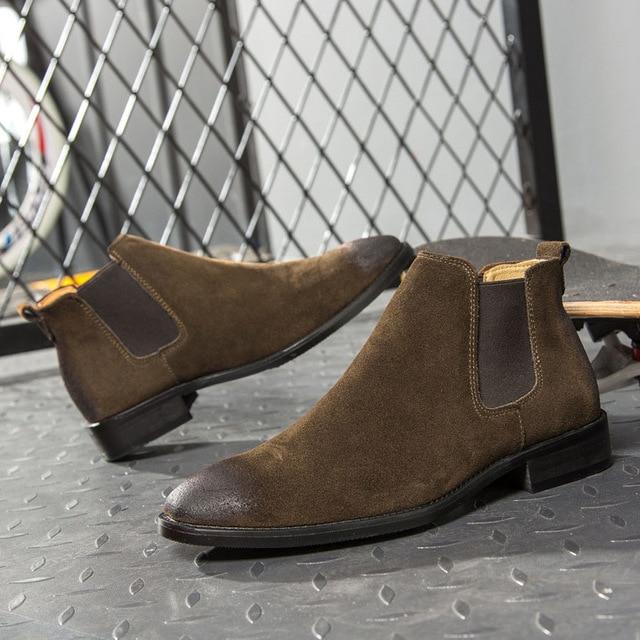Men Ankle Chelsea Boots