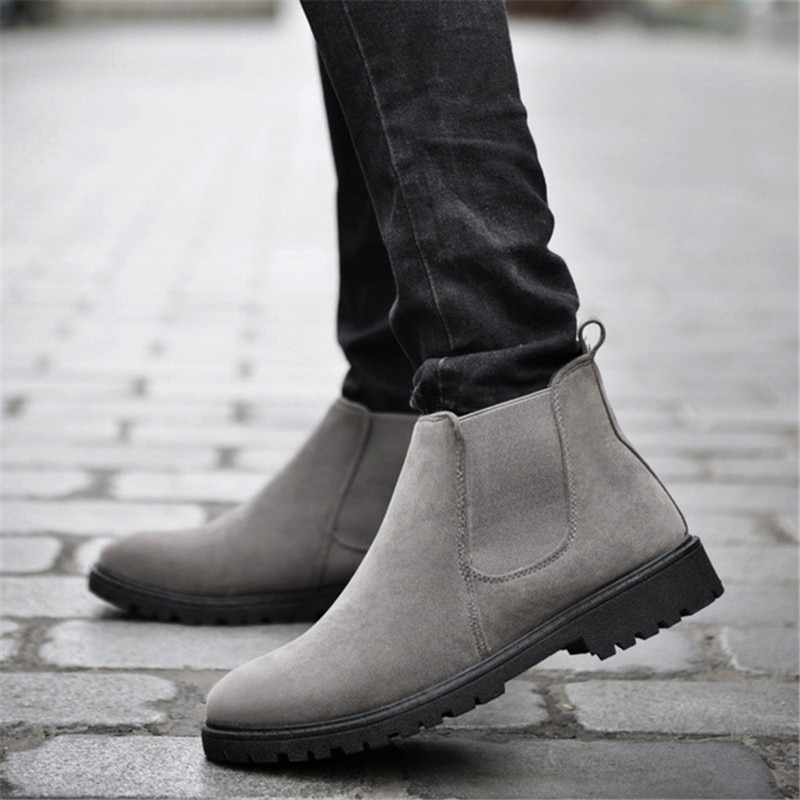 Cow Suede Chelsea Boots