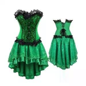 Fashionable Green Corset Dress