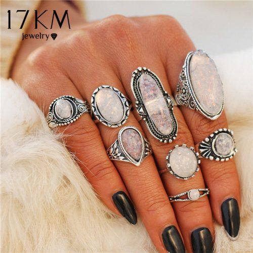 Patterned Opal Rings