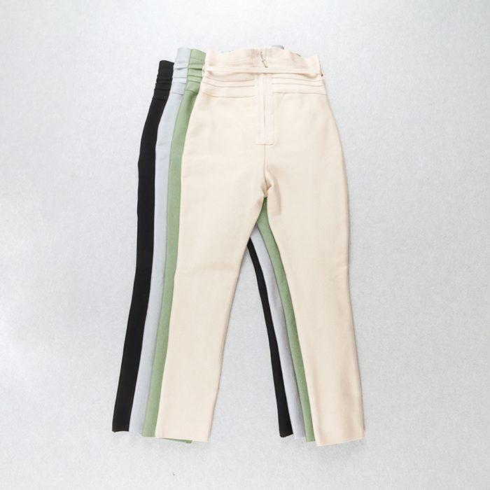High Waist Slim Stretch Pencil Pants