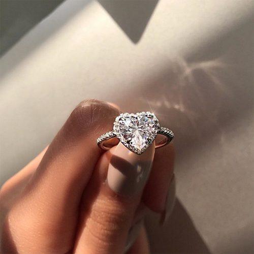 Heart Shaped Promise Rings