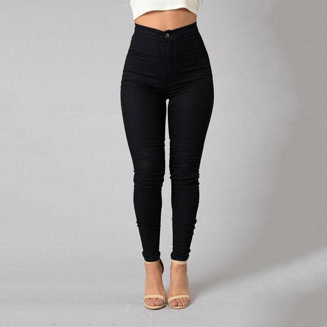 High waist stretch pencil pants
