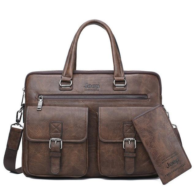 Men Quality Leather Messenger Bag