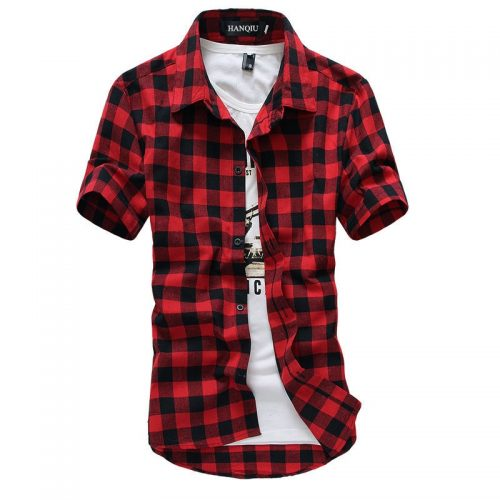 Colorful Men Plaid Shirts