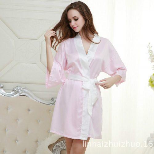 Sexy Satin Kimono Robe