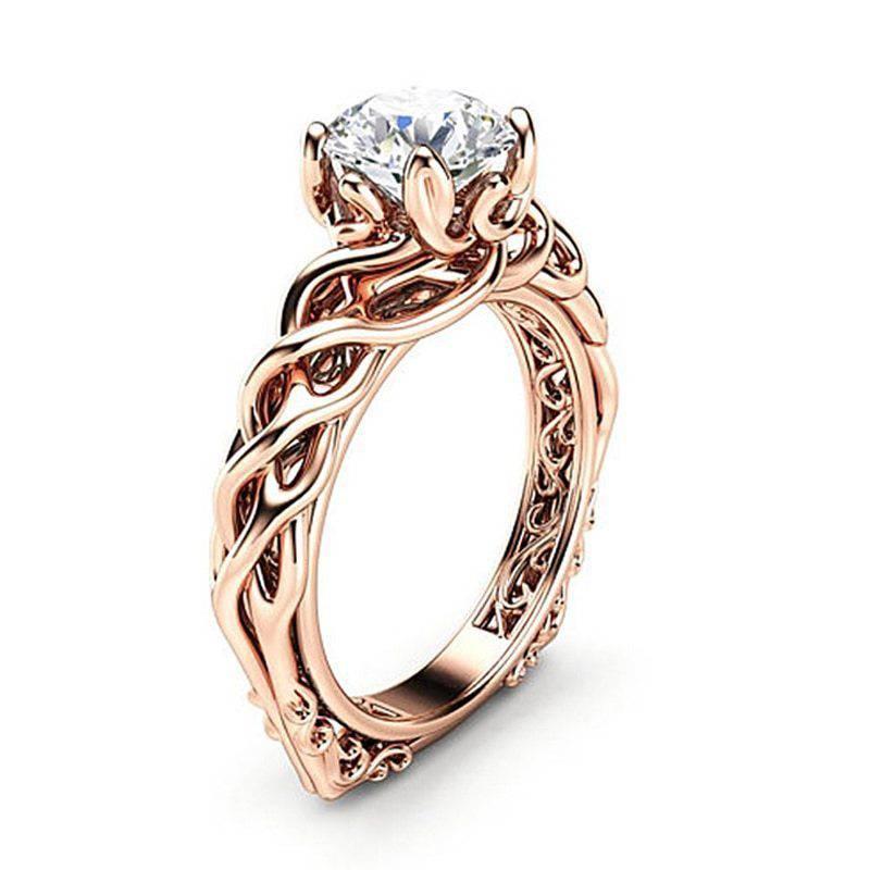 Elegant Rose Gold Engagement Rings