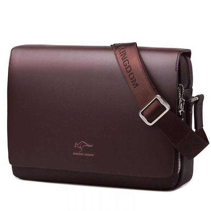 Fashionable Leather Messenger Bag