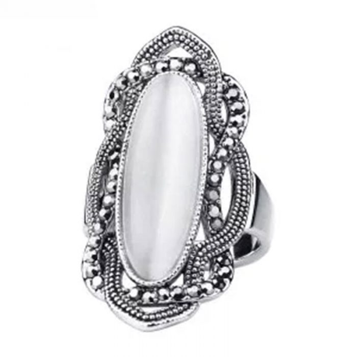 Top Quality White Opal Ring