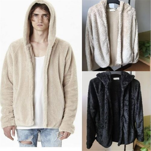 Men's Hoodie Streetwear Sherpa Pullover
