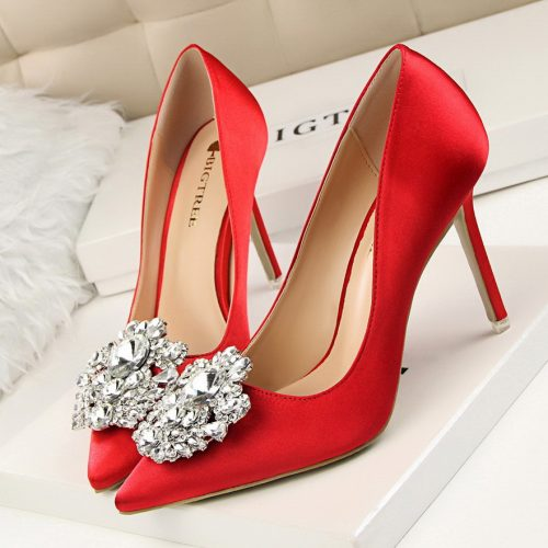 Faux Crystal Stiletto High Heel