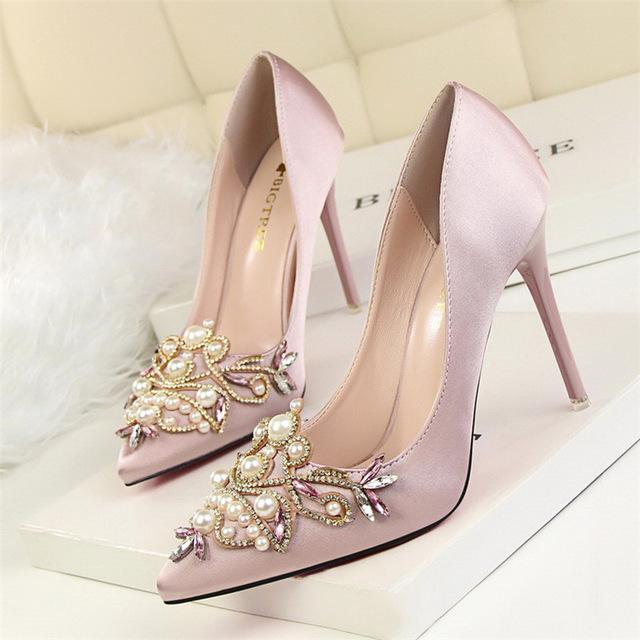 Faux Crystal Stiletto High Heel