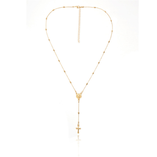 Layered Style Crucifix Necklace
