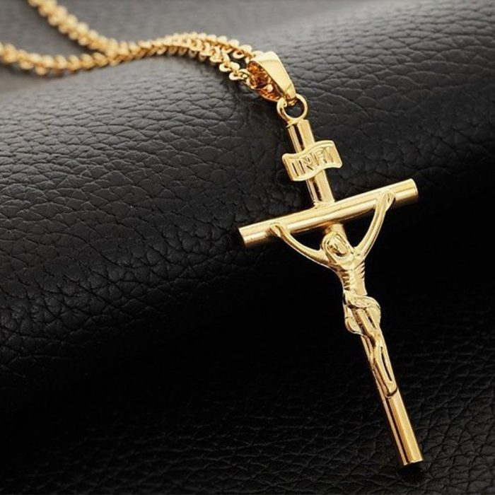 Charm Unisex Crucifix Necklace