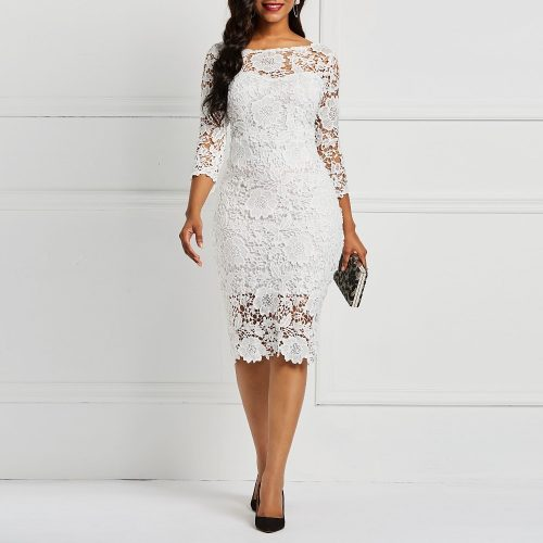 White See-Through Bodycon Dress