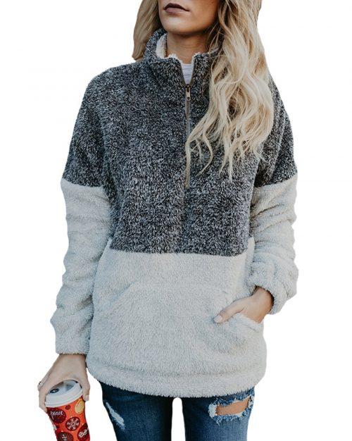 Soft fleece Sherpa pullover
