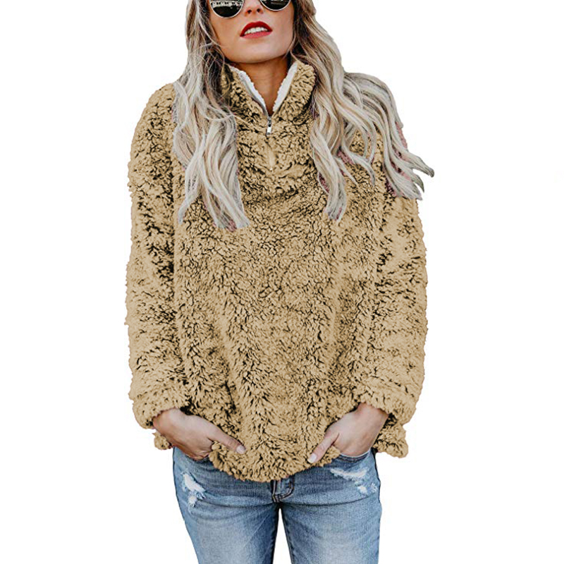 Zip up Sherpa Pullover