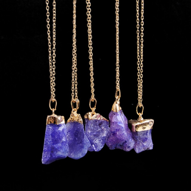 Natural Stone Amethyst Necklace