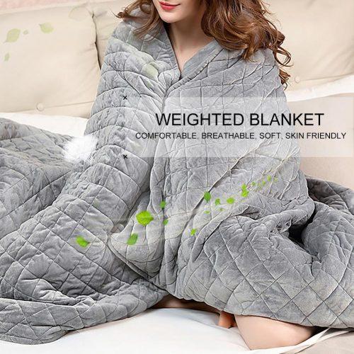 Sleep aid weighted blanket
