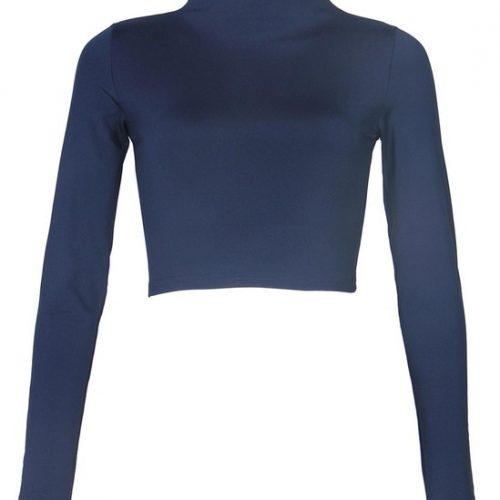 Long Sleeve Crop Top T-Shirt