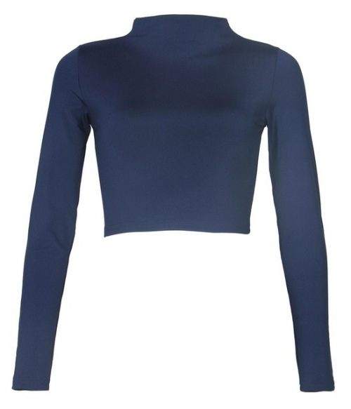 Long Sleeve Crop Top T-Shirt