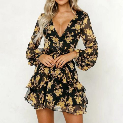 Women Floral Babydoll Dress