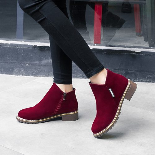 Female Suede Leather Chelsea Boots