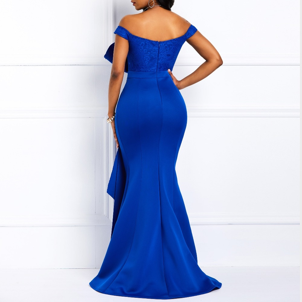Off Shoulder Long Dress