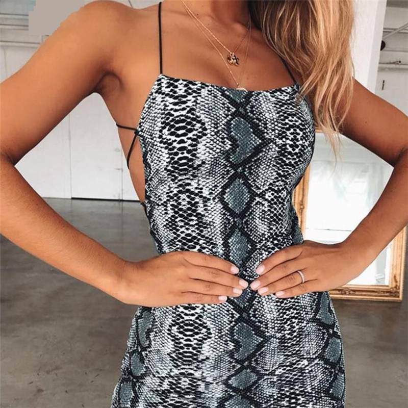 Cross Bandage Backless Bodycon Dress