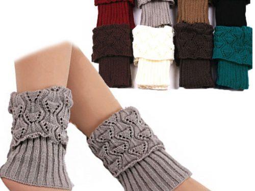 Women Crochet Leg Warmers