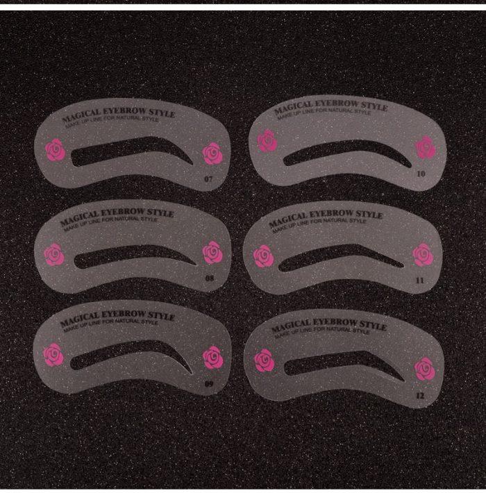 24 Styles Grooming Eyebrow Stencils