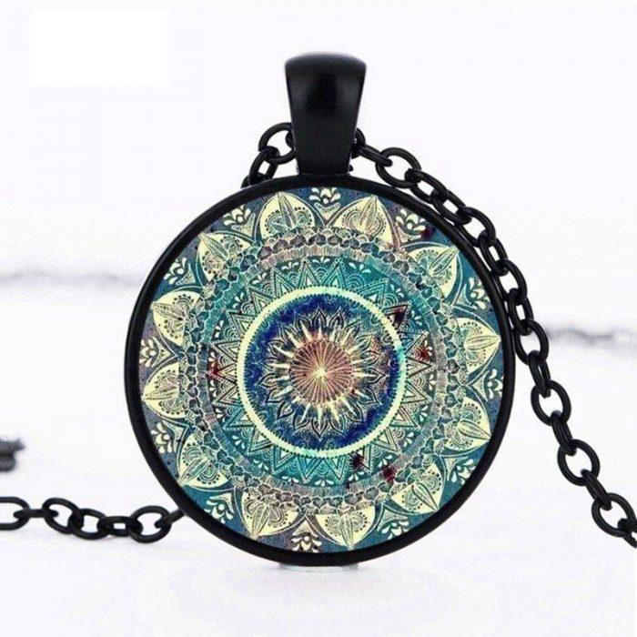 Vintage Glass Mood Necklace