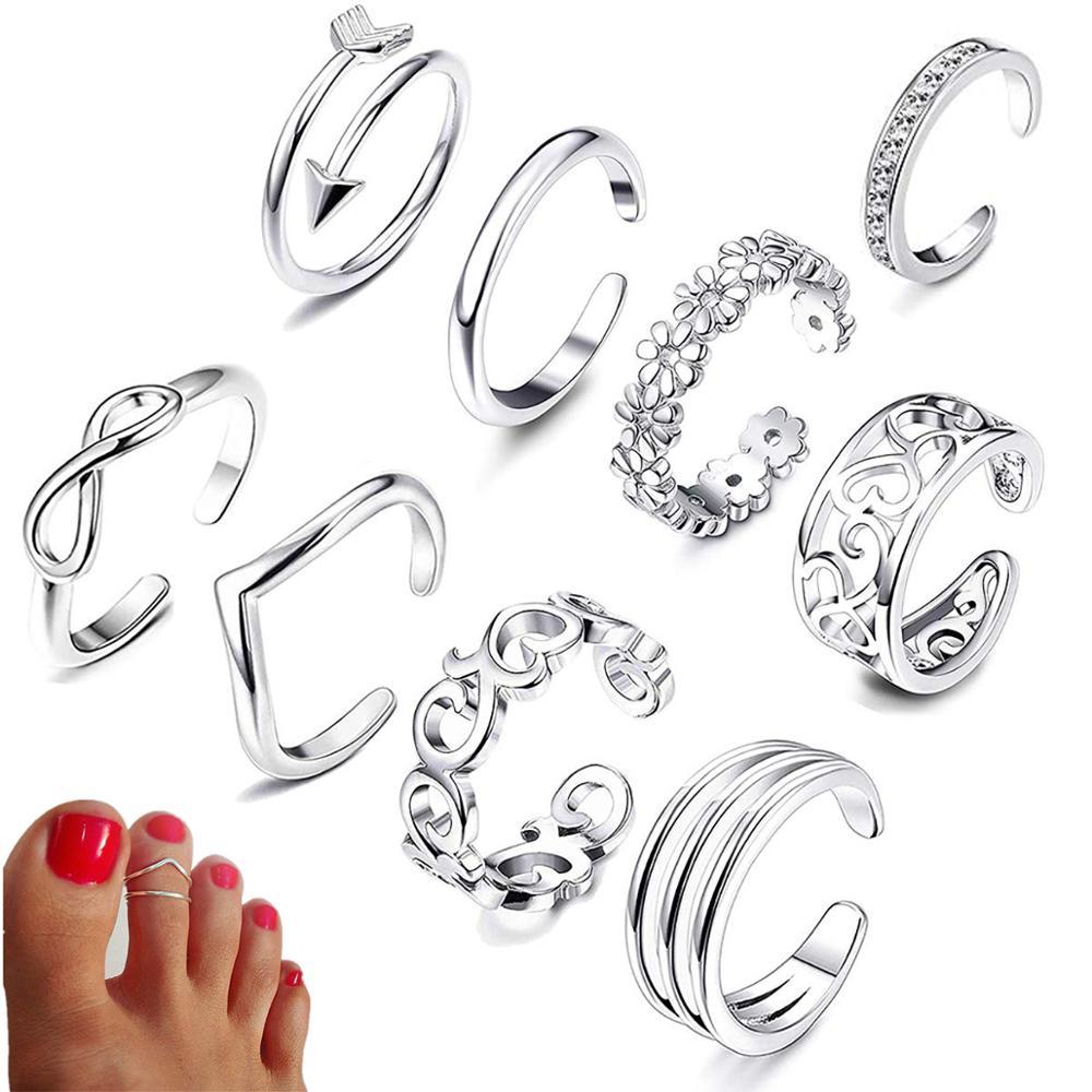 Beach Knuckle Open Toe Rings