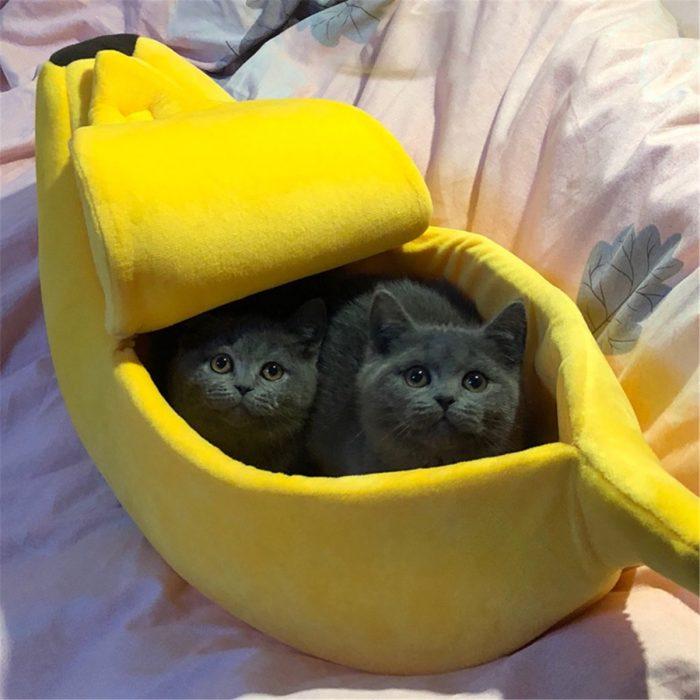 Banana Shape Pet Cat House