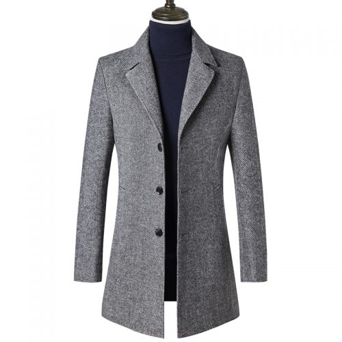Men Grey Tweed Jacket