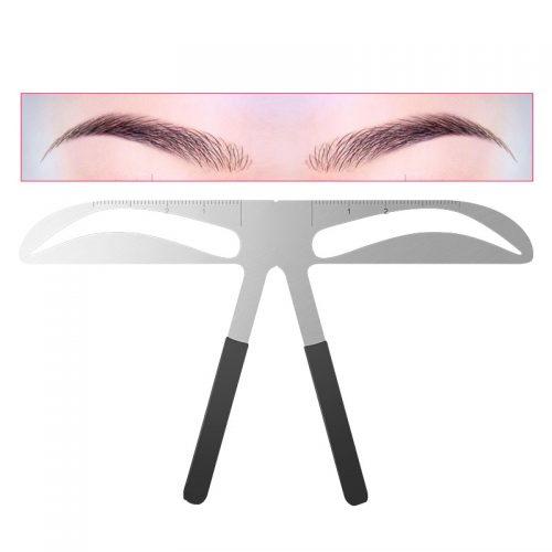 DIY Ruler Eyebrow Stencils