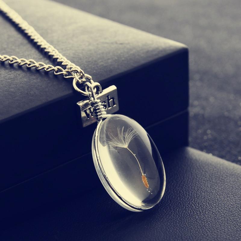 Dandelion Crystal Mood Necklace